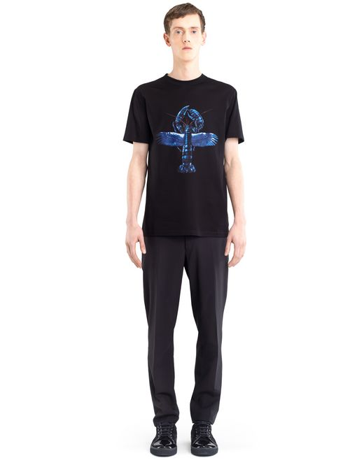 "lanvin black ""flying lobster"" t-shirt men"