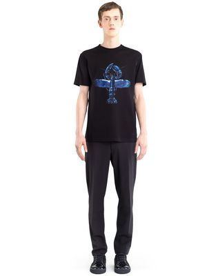 "LANVIN BLACK ""FLYING LOBSTER"" T-SHIRT Polos & T-Shirts U r"