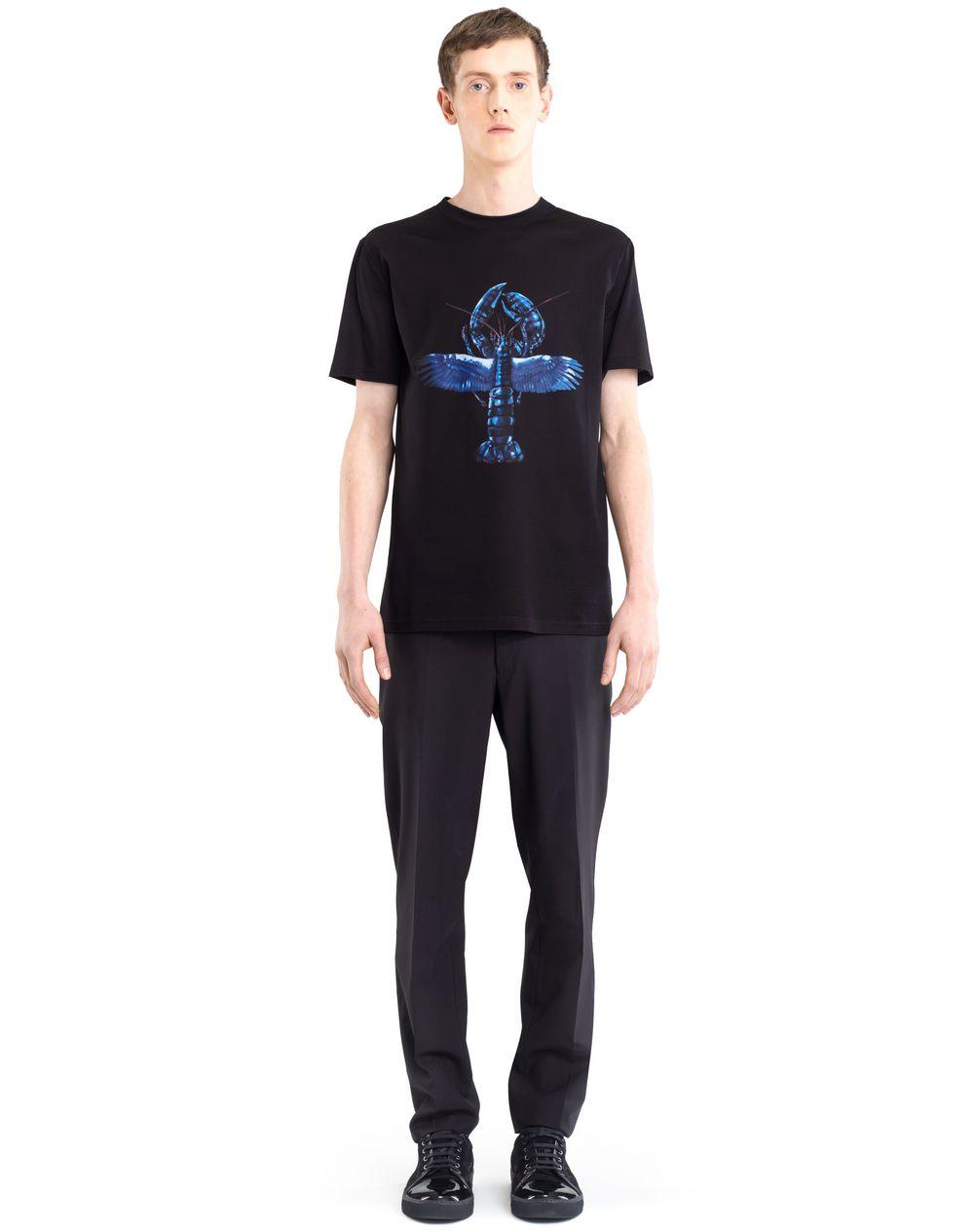 BLACK PRINTED T-SHIRT - Lanvin