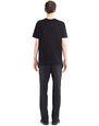 LANVIN Polos & T-Shirts Man BLACK PRINTED T-SHIRT f