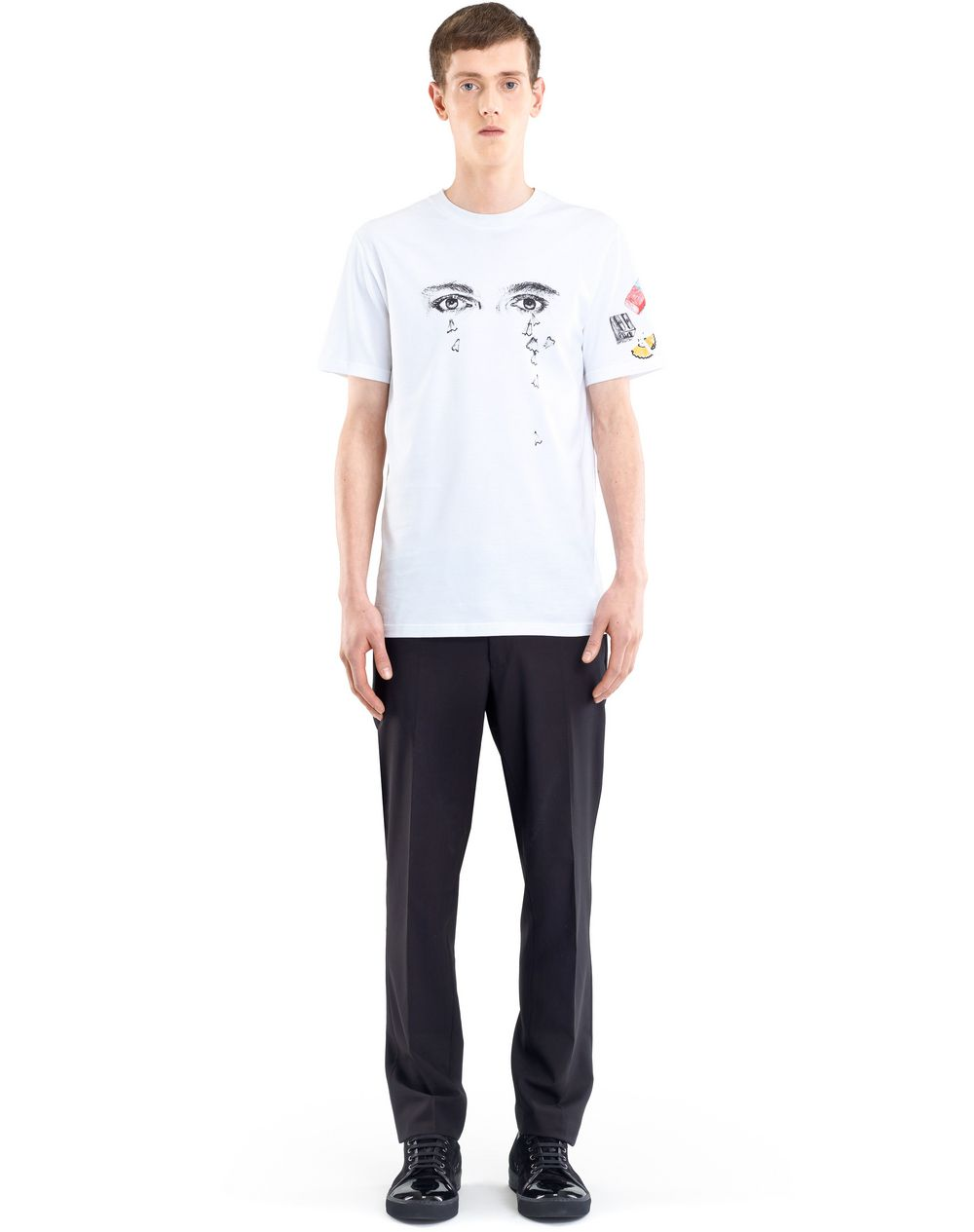 "WHITE ""PENCILS SHAVINGS"" T-SHIRT BY CÉDRIC RIVRAIN  - Lanvin"