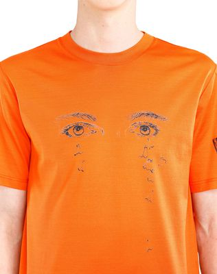 "LANVIN ORANGE ""PENCILS SHAVINGS"" T-SHIRT BY CÉDRIC RIVRAIN Polos & T-Shirts U a"