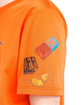 "LANVIN ORANGE ""PENCILS SHAVINGS"" T-SHIRT BY CÉDRIC RIVRAIN Polos & T-Shirts U b"