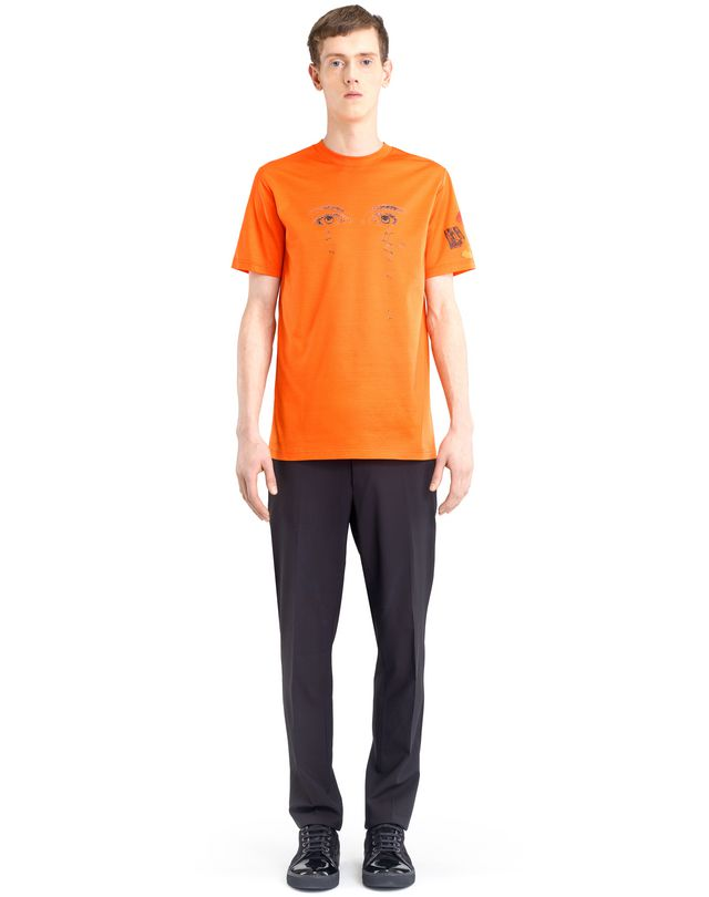 "LANVIN ORANGE ""PENCILS SHAVINGS"" T-SHIRT BY CÉDRIC RIVRAIN Polos & T-Shirts U r"
