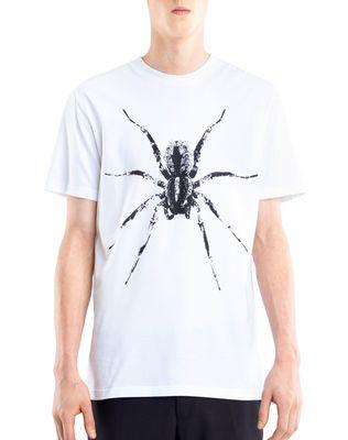 "LANVIN Polos & T-Shirts U WHITE ""SPIDER"" T-SHIRT F"