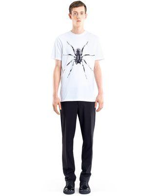 "LANVIN WHITE ""SPIDER"" T-SHIRT Polos & T-Shirts U r"