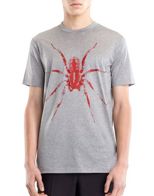 "LANVIN Polos & T-Shirts U BLACK ""SPIDER"" T-SHIRT F"