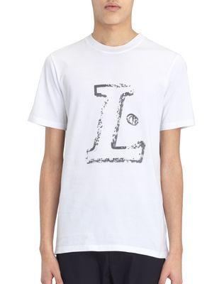 "LANVIN Polos & T-Shirts U WHITE ""L"" T-SHIRT F"