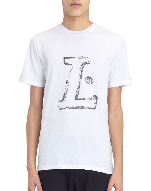 "lanvin white ""l"" t-shirt men"