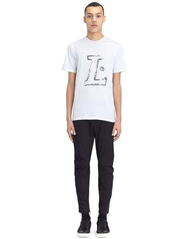 "LANVIN WHITE ""L"" T-SHIRT Polos & T-Shirts U r"