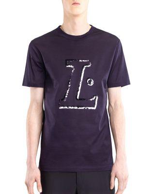 """LANVIN Polos & T-Shirts U BLACK """"L"""" T-SHIRT F"""