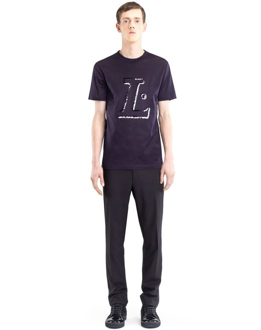 "lanvin black ""l"" t-shirt men"