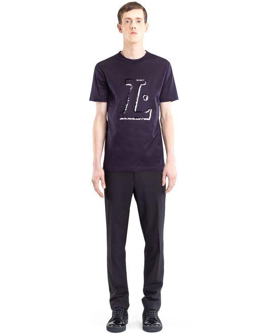 "lanvin black ""l"" t-shirt men"