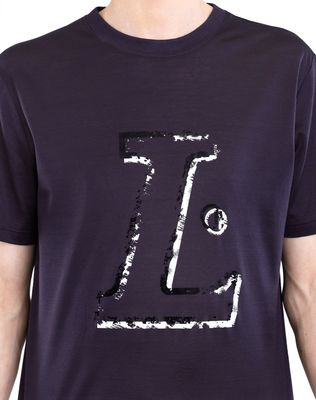 "LANVIN BLACK ""L"" T-SHIRT Polos & T-Shirts U a"
