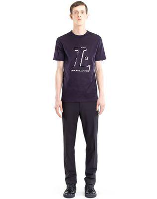 "LANVIN BLACK ""L"" T-SHIRT Polos & T-Shirts U r"