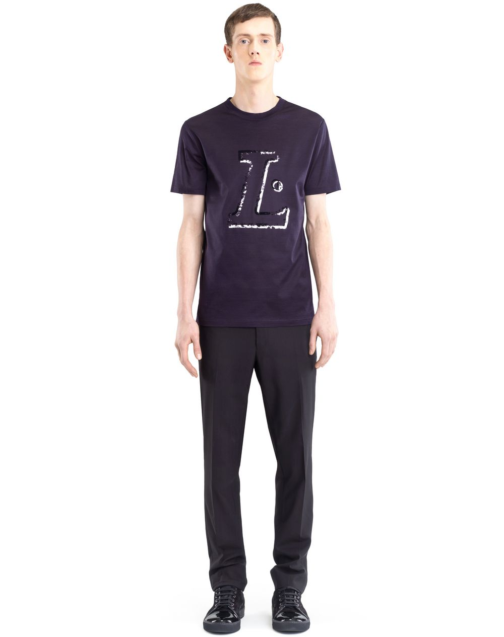 "BLACK ""L"" T-SHIRT - Lanvin"