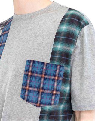 LANVIN CHECKERED PATCHWORK T-SHIRT Polos & T-Shirts U a