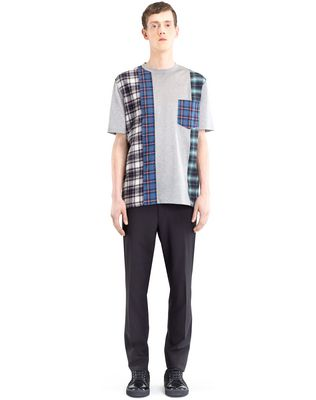 LANVIN CHECKERED PATCHWORK T-SHIRT Polos & T-Shirts U r