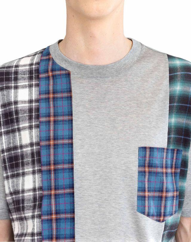 LANVIN CHECKERED PATCHWORK T-SHIRT Polos & T-Shirts U b