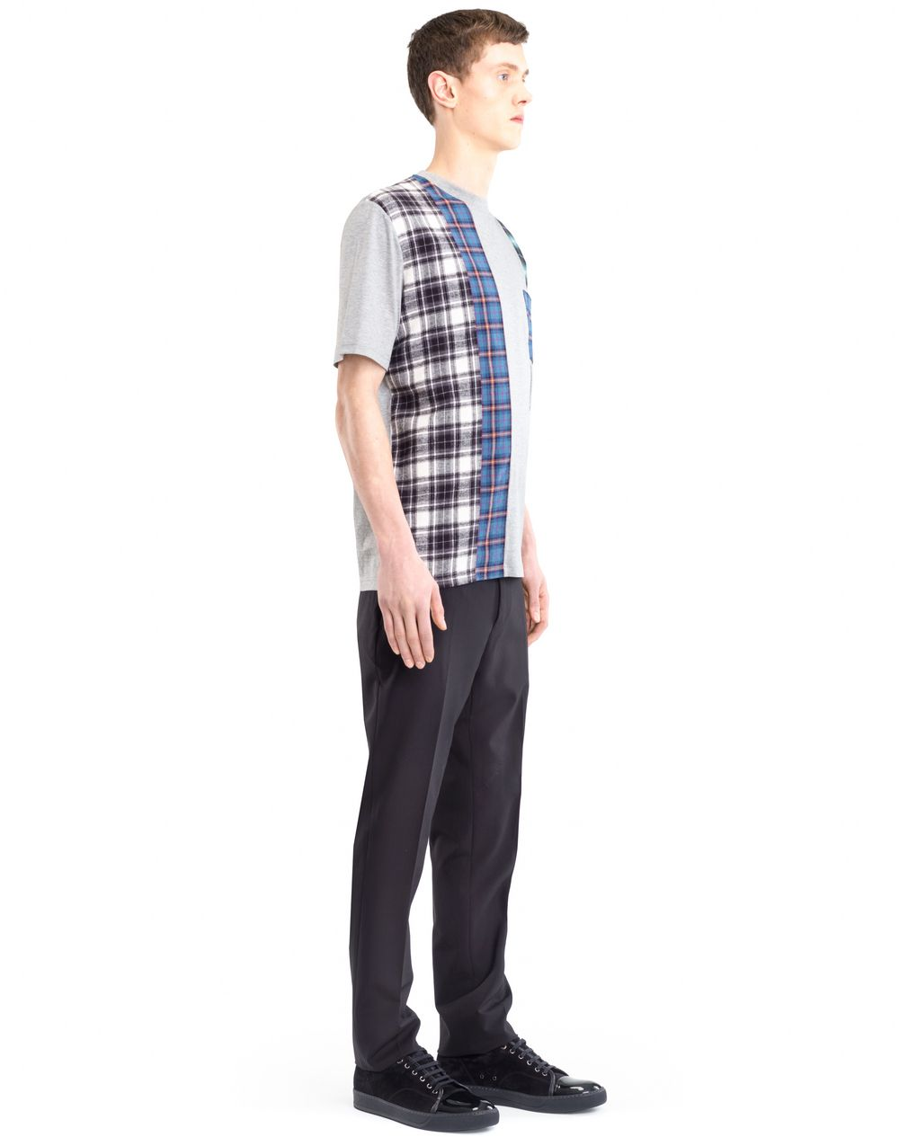 CHECKERED PATCHWORK T-SHIRT - Lanvin
