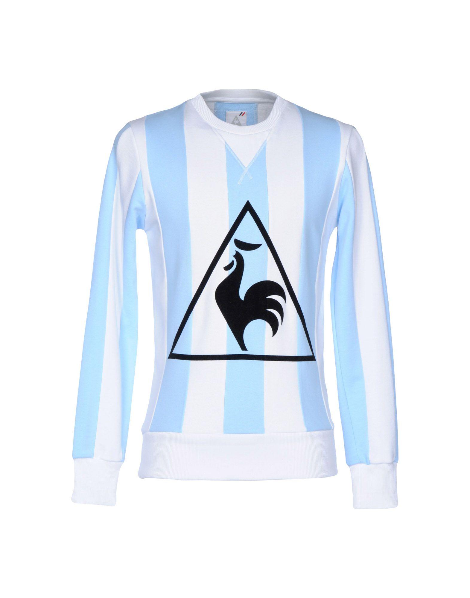 《期間限定セール開催中!》LE COQ SPORTIF メンズ スウェットシャツ ホワイト S コットン 100%