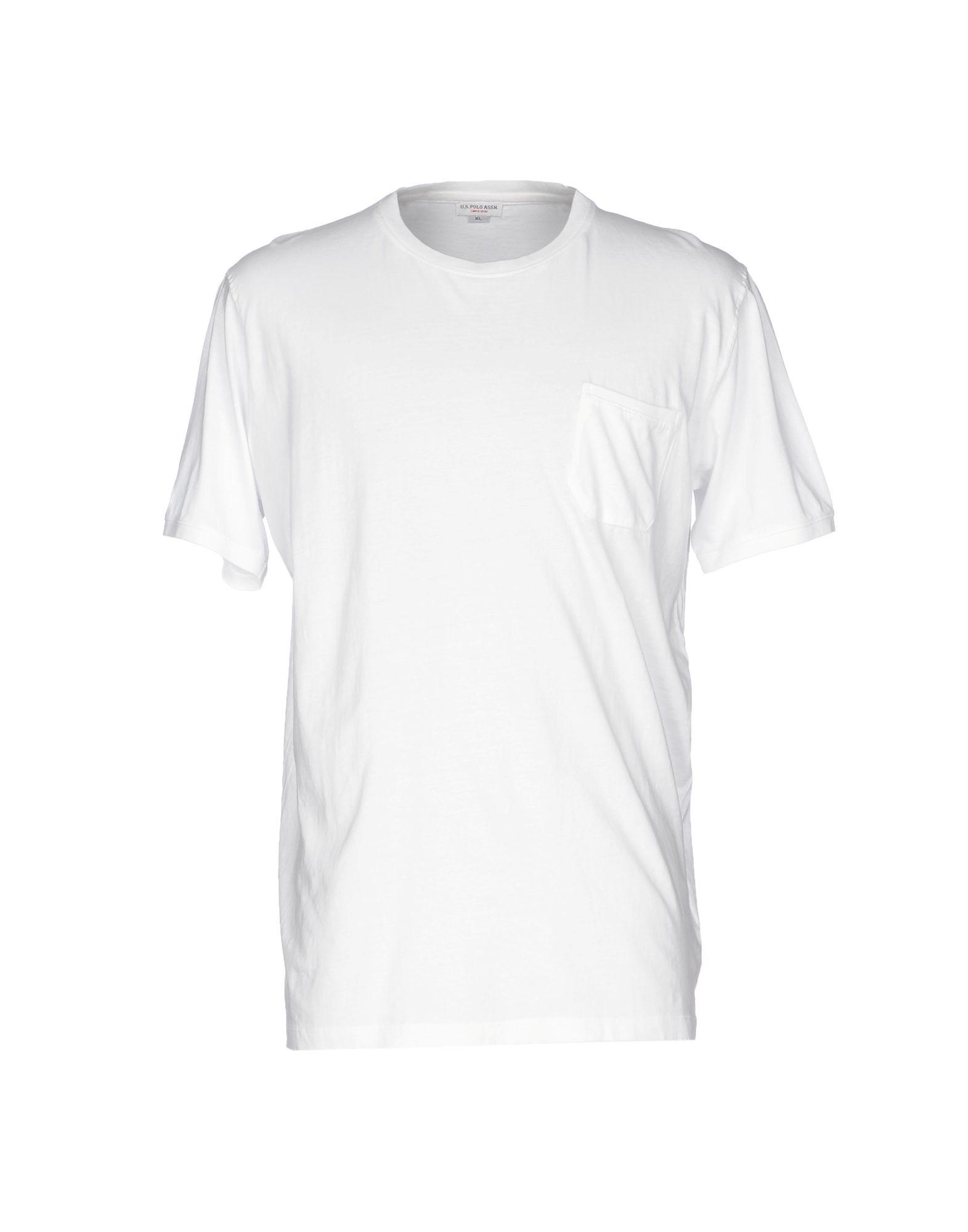 《送料無料》U.S.POLO ASSN. メンズ T シャツ ホワイト XXL コットン 100%