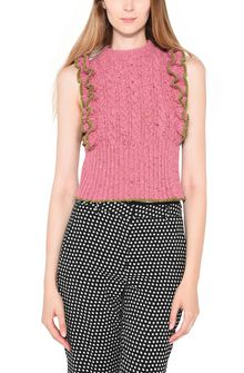 PHILOSOPHY di LORENZO SERAFINI ROMANTIC RUFFLE TOP Crop top in maglia Donna r