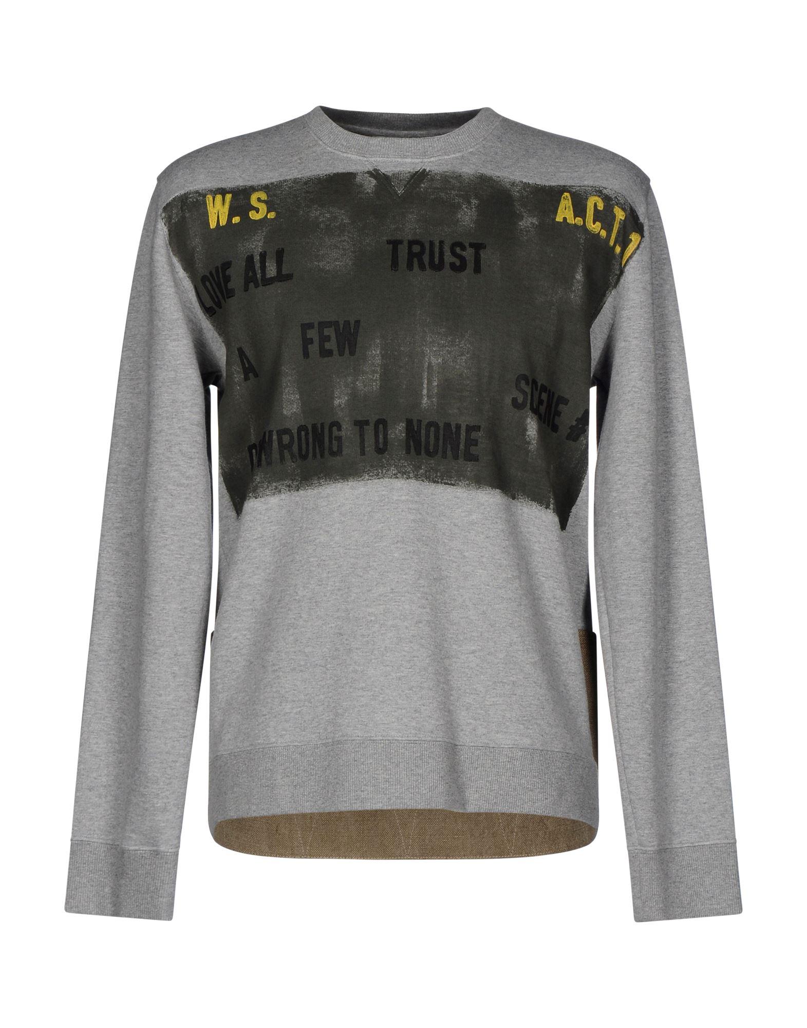 《セール開催中》VALENTINO メンズ スウェットシャツ グレー XL コットン 92% / ナイロン 8% / 麻