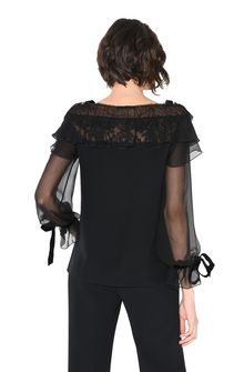 ALBERTA FERRETTI MILADY BLACK BLOUSE SHIRT Woman d