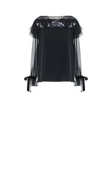 ALBERTA FERRETTI MILADY BLACK BLOUSE SHIRT Woman e