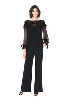 ALBERTA FERRETTI MILADY BLACK BLOUSE SHIRT Woman f