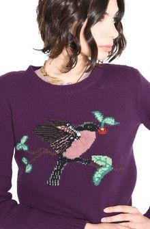ALBERTA FERRETTI BIRD SWEATER KNITWEAR D a