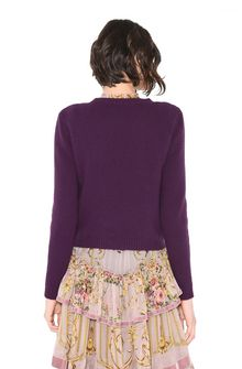 ALBERTA FERRETTI BIRD SWEATER KNITWEAR Woman d