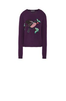 ALBERTA FERRETTI BIRD SWEATER KNITWEAR Woman e