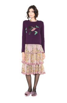 ALBERTA FERRETTI BIRD SWEATER KNITWEAR Woman f