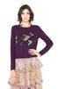 ALBERTA FERRETTI BIRD SWEATER KNITWEAR Woman r