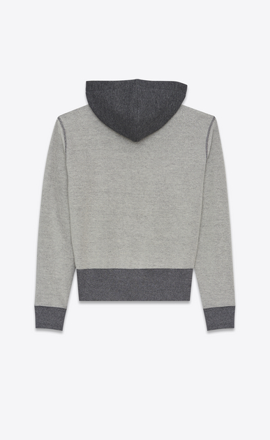 SAINT LAURENT Sportswear Tops U SAINT LAURENT UNIVERSITÉ Hoodie in Heather Grey French Terrycloth b_V4