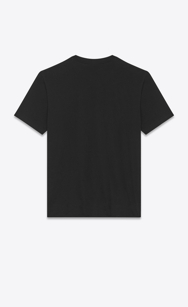 SAINT LAURENT T-Shirt e Jersey Uomo Oversized Short Sleeve BOUCHE SAINT LAURENT T-Shirt in Black, Red and Ivory Cotton Jersey b_V4