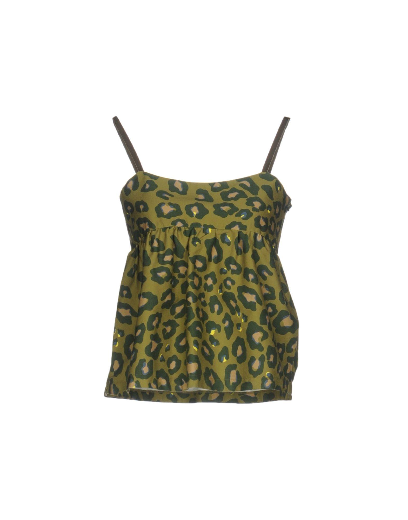ANIYE BY Damen Top Farbe Militärgrün Größe 4
