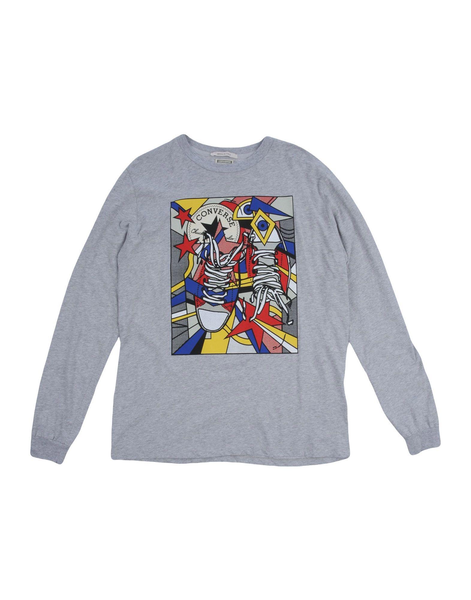 CONVERSE ALL STAR Jungen 9-16 jahre T-shirts Farbe Grau Größe 8