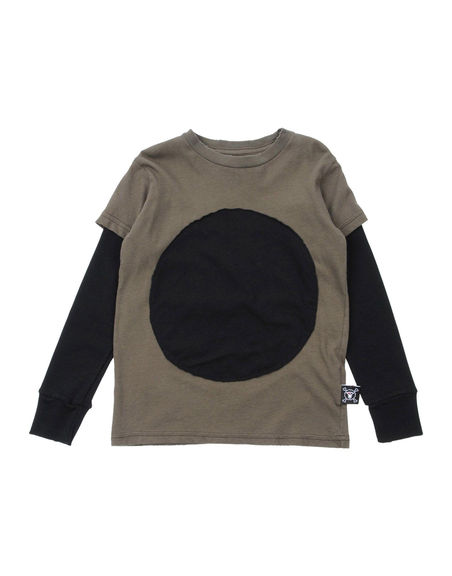 NUNUNU Mädchen 3-8 jahre T-shirts Farbe Militärgrün Größe 2