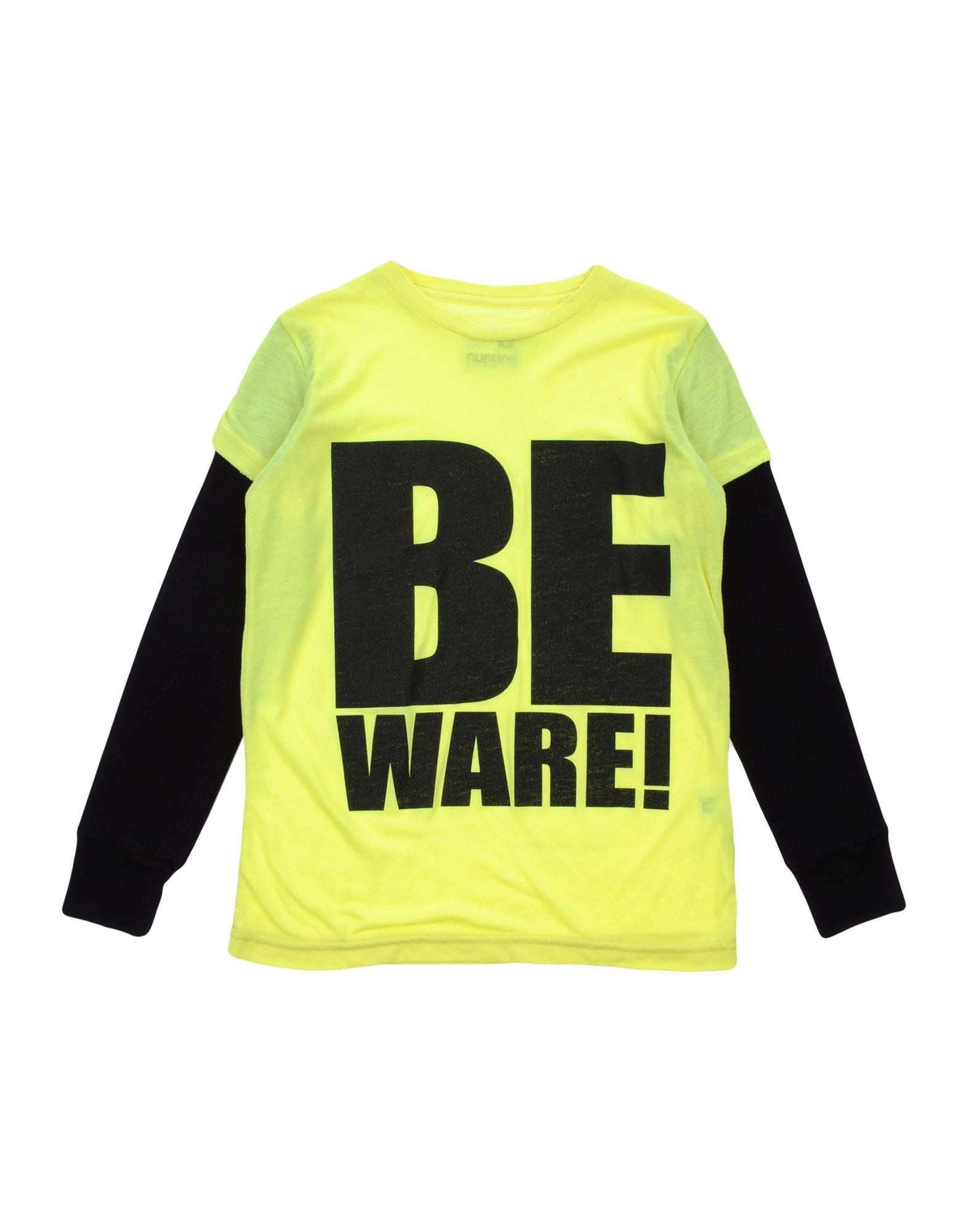 NUNUNU Mädchen 3-8 jahre T-shirts Farbe Gelb Größe 6