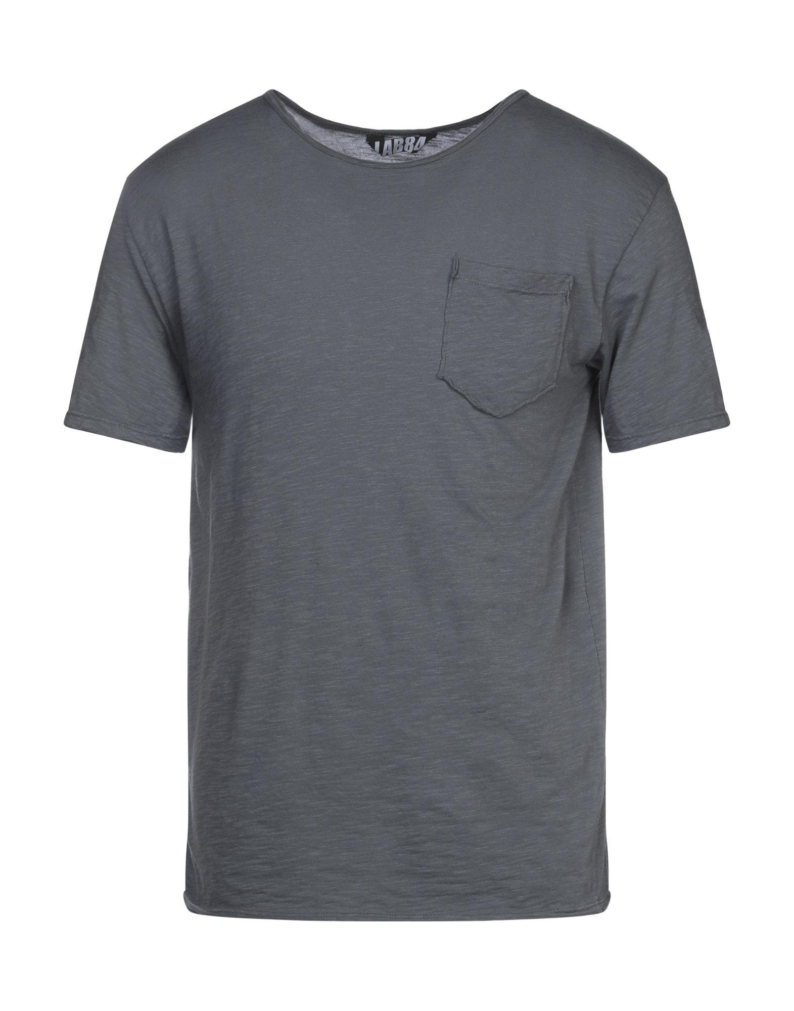 《セール開催中》LAB84 メンズ T シャツ 鉛色 M コットン 100%