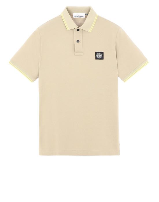 STONE ISLAND 22S18 Polo shirt Man Dark Beige