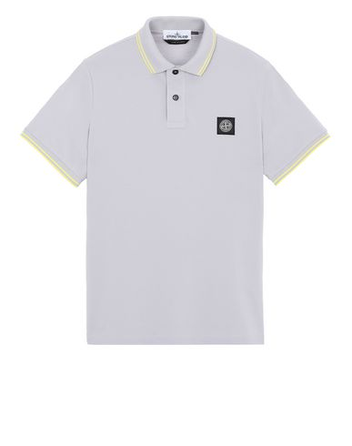 STONE ISLAND 22S18 Polo shirt Man Dust Gray EUR 130