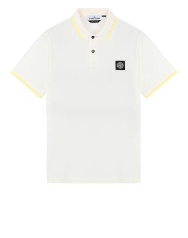 STONE ISLAND 22S18 Polo shirt Man Ivory EUR 125