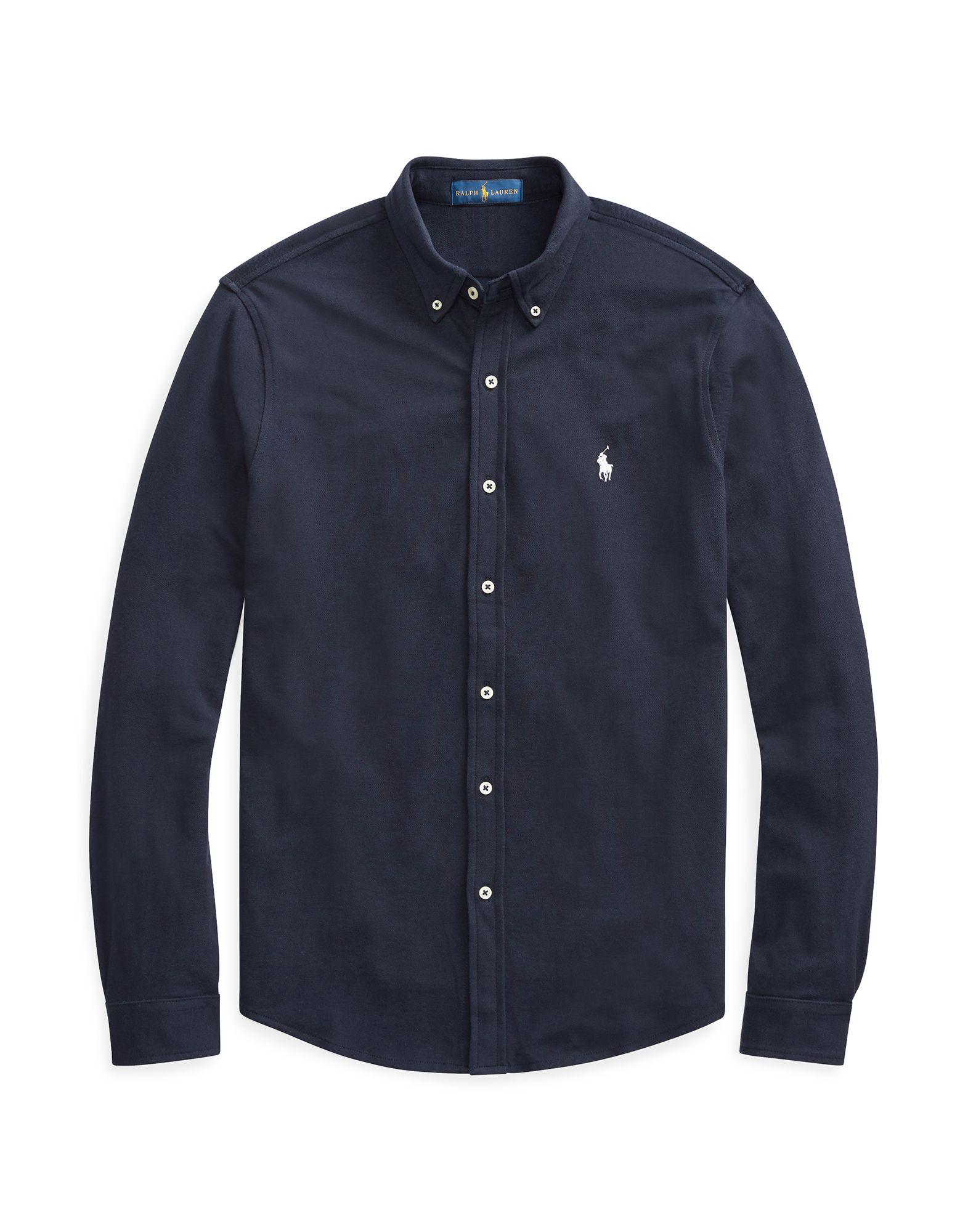 《セール開催中》POLO RALPH LAUREN メンズ シャツ ダークブルー XS コットン 100% Featherweight Mesh Shirt