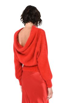 ALBERTA FERRETTI BOTTLENECK RED SWEATER Sweater D d