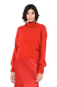 ALBERTA FERRETTI BOTTLENECK RED SWEATER Jumper Woman r