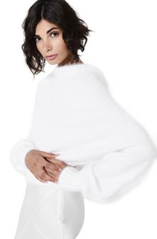 ALBERTA FERRETTI BOTTLENECK WHITE SWEATER Jumper D a